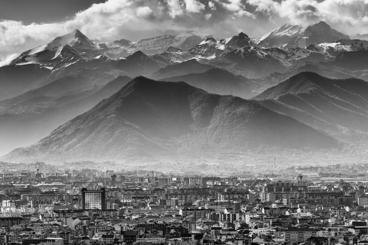 Turin and mountains -
